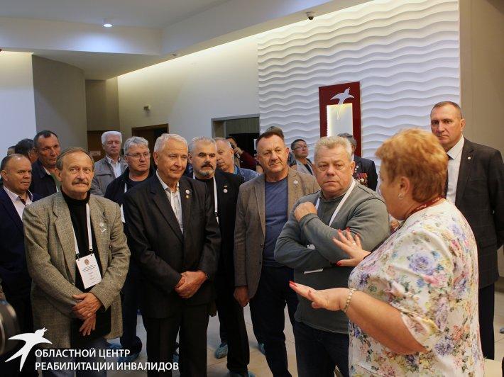 Участники международного форума «Чернобыльское братство. Настоящее. Будущее» познакомились с Областным центром реабилитации инвалидов