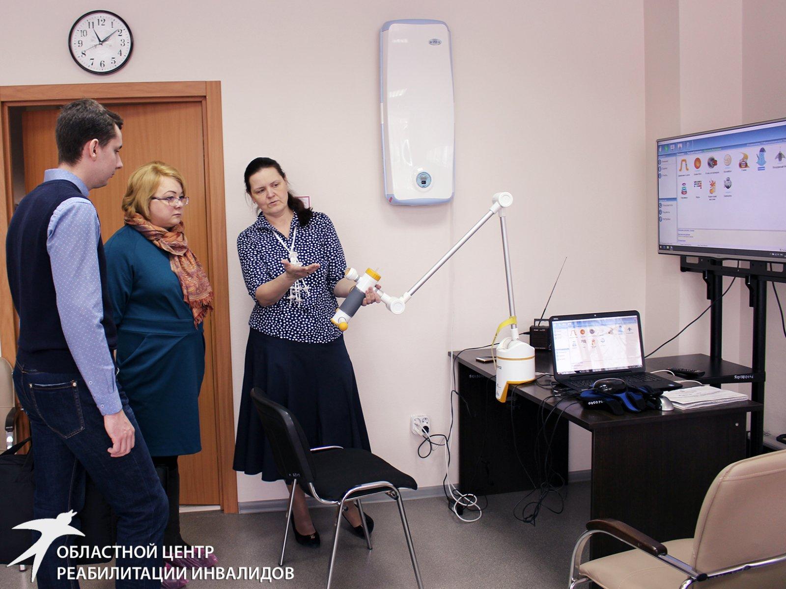 Специалисты Областного центра реабилитации инвалидов делятся опытом с коллегами из Полевского