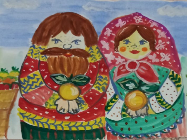 Выставка детских рисунков, приуроченная ко Дню пожилого человека
